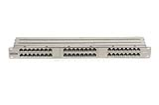 پچ پنل 48 پورت CAT5e شیلددار یونیکام - UNICOM, CAT5e 48 Port High Density Shielded Patch Panel