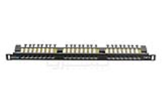 پچ پنل 24 پورت CAT6 High Density یونیکام - UNICOM, CAT6 24 Port High Density Patch Panel